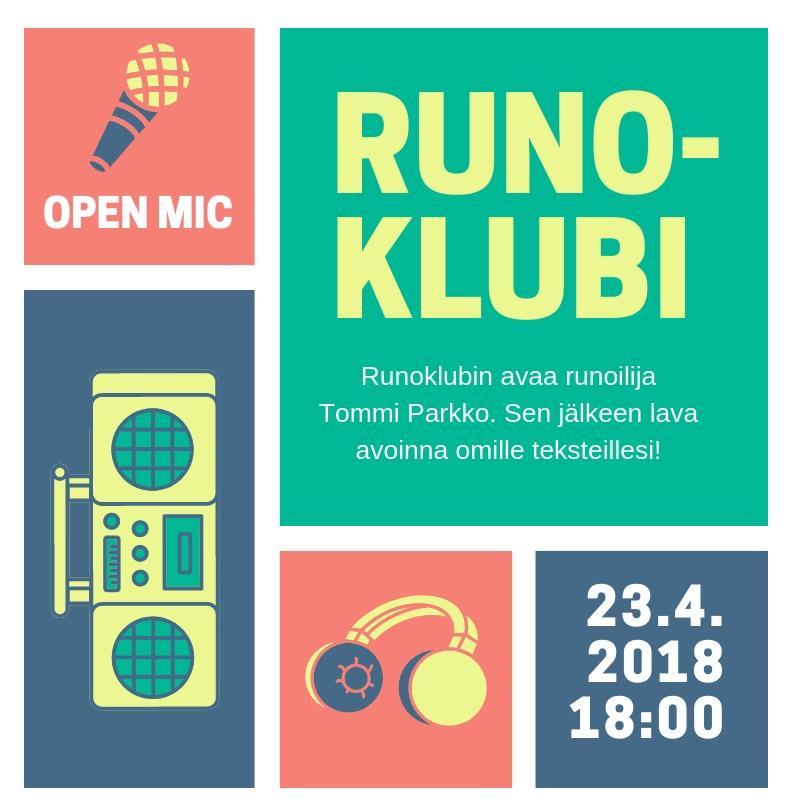 Runoklubi & open mic
