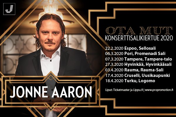 Jonne Aaron, Ota mut -konserttisalikiertue Porissa