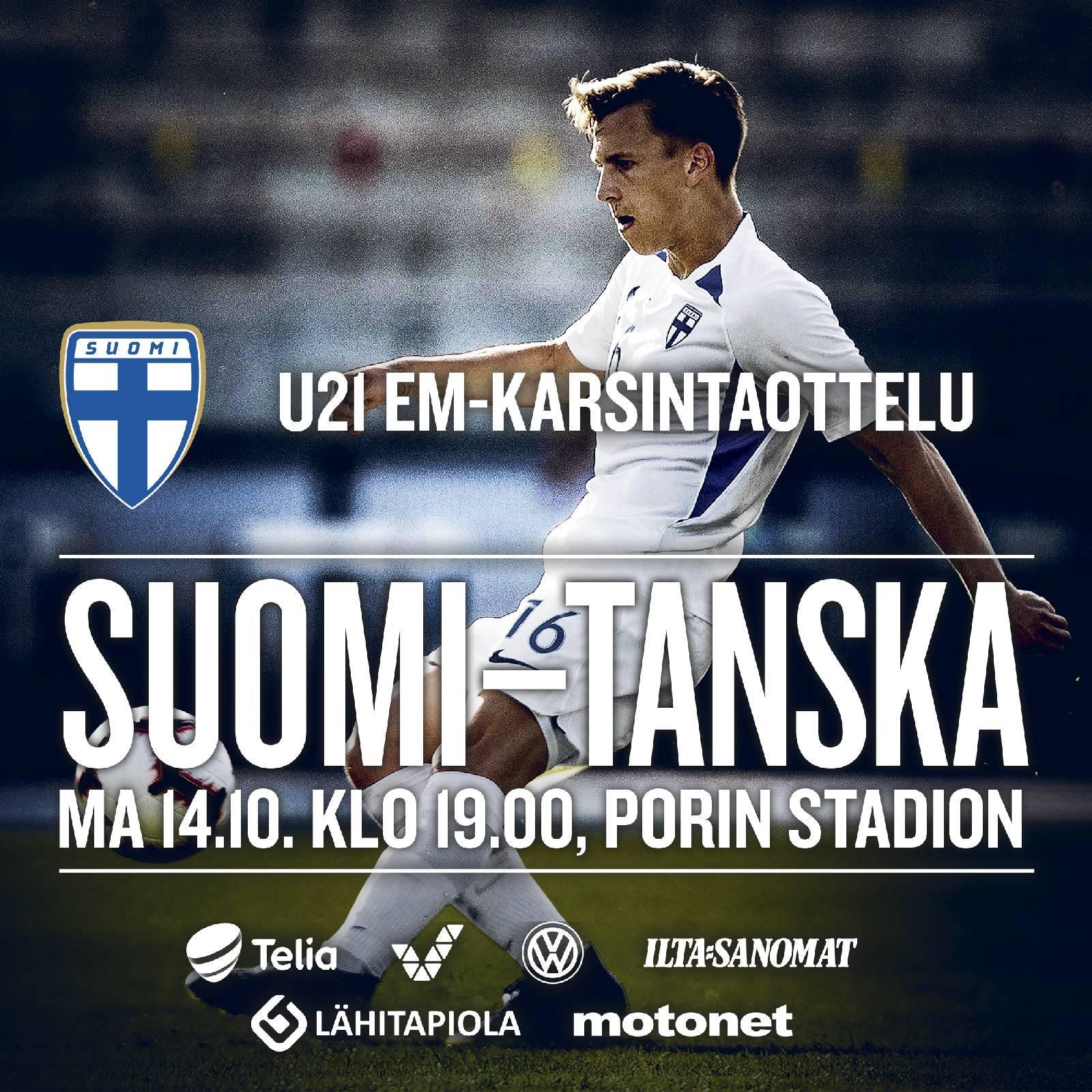 U21 EM-karsintaottelu Suomi – Tanska