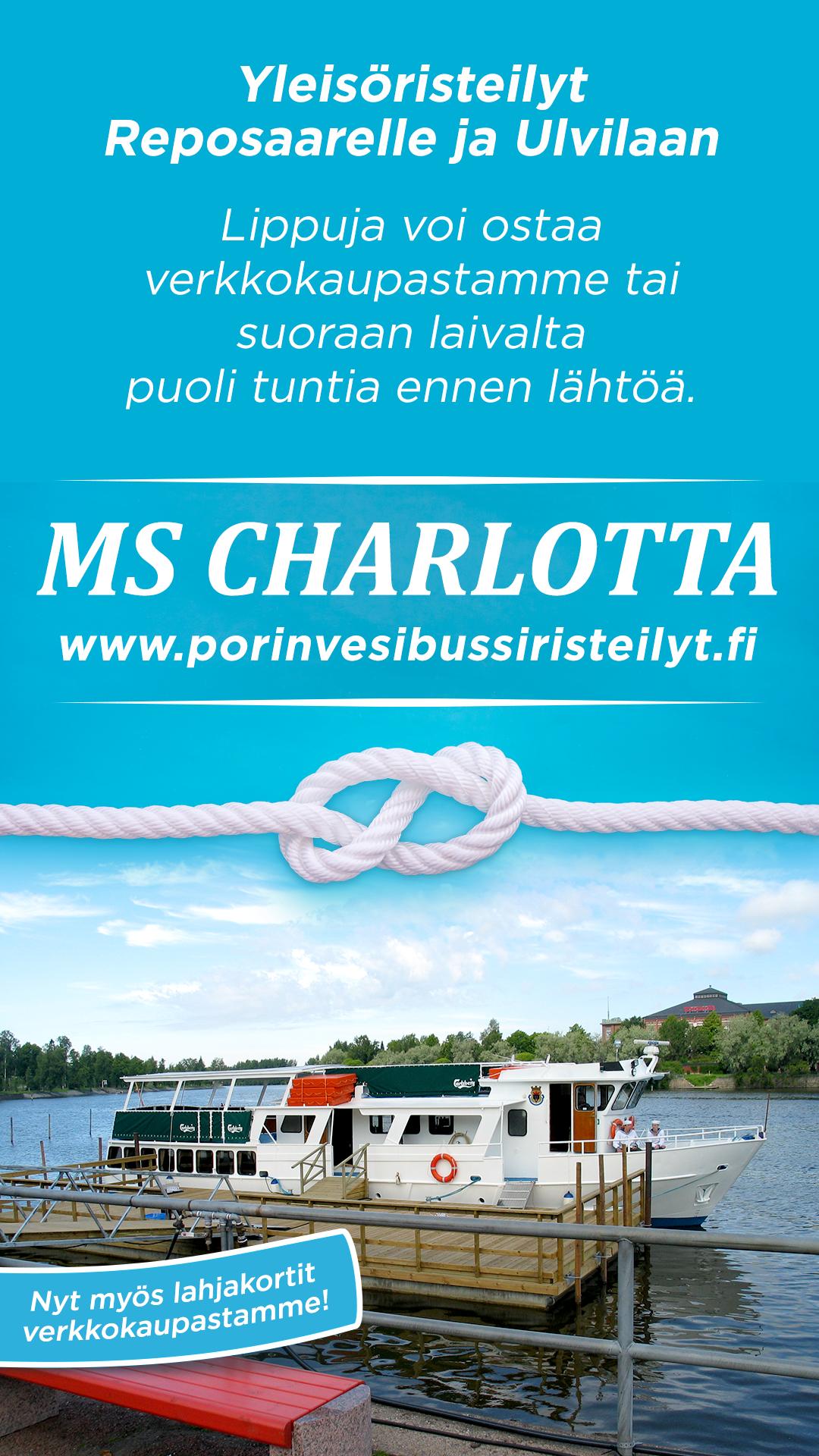 Yleisöristeily Porista Reposaareen su 26.7