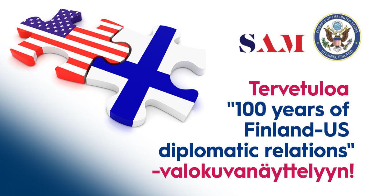 Näyttely Suomen ja Yhdysvaltojen satavuotiset diplomaattisuhteet
