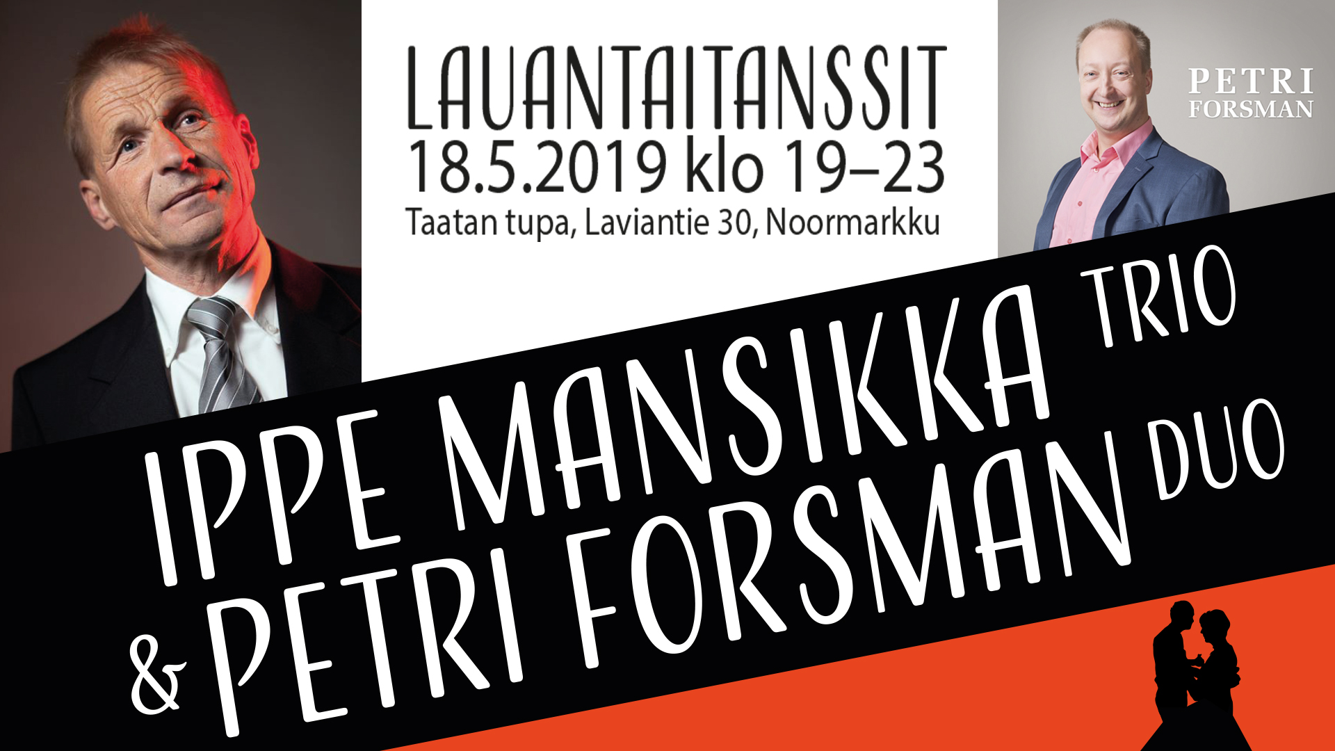 Lauantaitanssit: Ippe Mansikka Trio ja Petri Forsman Duo
