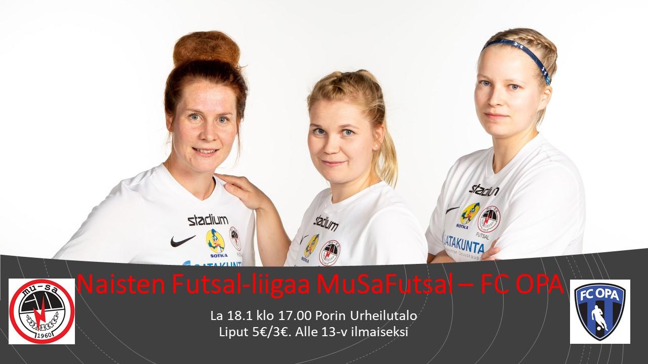 Naisten Futsal-liigaa MuSaFutsal – FC OPA